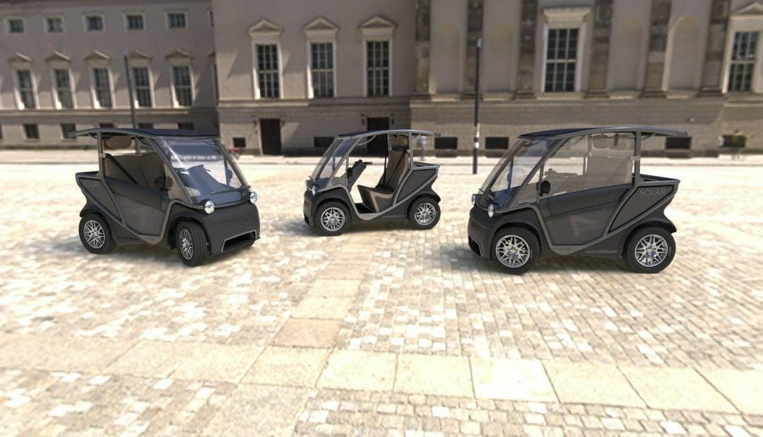 Squad betaalbare zonne- stadsauto