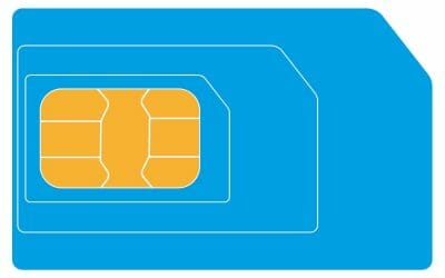 Prepaid sim kaart voor mobiel internet, bellen, SMS'en en M2M data-diensten