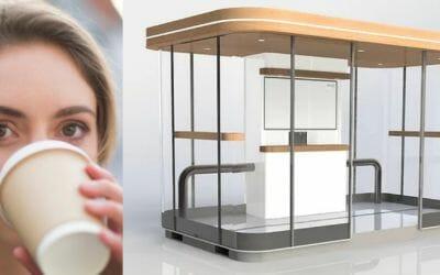 Unieke, innovatieve, onbemande koffiekiosk